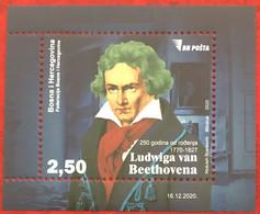 Bosnia And Hercegovina, 2020, ''250 Years Since The Birth Of Ludwig Van Beethoven'' (MNH) - Musik