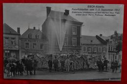 CPA Esch-sur-Alzette/ Norbert Metz Platz/ Feierlichkeiten 1912/ Elektrische Lichtfontaine - Esch-Alzette
