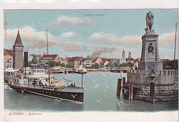 """Schiff Bei Lindau A. Bodensee - Schiffsstempel """"See-Rorschach"""" - 1908        (A-285-200723) - Passagiersschepen"""