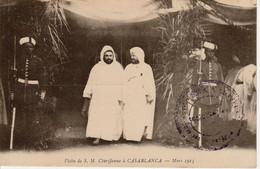 Maroc- Visite De S.M. Cherifienne à Casablanca Mars 1915 Sultan Moulay Youssef //Circulée TAZA-9 Février 1916 - Otras Guerras