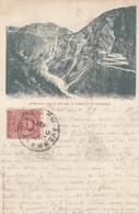 PIANAZZO-SONDRIO-STRADALE DELL SPLUGA E CASCATA-CARTOLINA VIAGGIATA IL 23-8-1901 - Sondrio