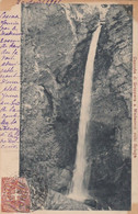 MADESIMO-SONDRIO- CASCATA DI GROPPARA SULLO SPLUGA-CARTOLINA VIAGGIATA IL 21-8-1901 - Sondrio