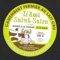 Etiquettes De Fromage.     Camembert Jubert à Saint-Saire (76).    Neuve. - Quesos
