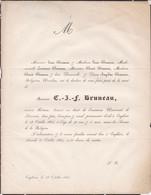 ENGHIEN BRUNEAU Ancien Notaire  90 Ans 1852 - Obituary Notices