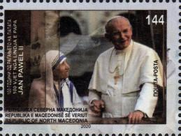 MACEDONIA NORTH 2020 - 100th ANN. OF THE BIRTH OF POPE JOHN PAUL II MNH - Macedonia