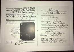 Cpm, Militaria, Résistance, Faux Papiers De Jean Moulin Pour Son Premier Séjour En Angleterre 23-10-1941 Au 1-01-1942 - Oorlog 1939-45