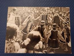 RUSSIA. Far East. YAKUTIA. Yakut People, Celebration Day - Rare Postcard 1963 Traditional Dance - Accordeon - Personaggi