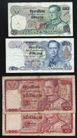 THAILANDE -LOT 4 BILLETS - 20 - 50 - 100 X 2 -  B/ TB - Thailand