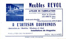 BU 2138 /   BUVARD-   MEUBLE REVOL    A L'ARTISAN DAUPHINOIS   ( 21,00 Cm X 12,50 Cm ) - M