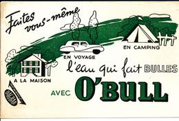 BU 2149 /   BUVARD-   O'BULL L'EAU QUI FAIT  BULLES   ( 22,50 Cm X 14,50 Cm ) - Softdrinks
