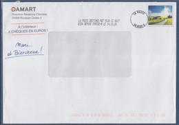 Enveloppe La Poste Destinéo  14.12.20 Damart Publicité Avec Timbre Fac-similé - Pubblicitari
