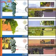 ARGENTINA 2007  GJ Carnet 3577-79  Paisajes Y Vinos - Wijn & Sterke Drank