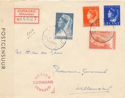 Curacao - 1941 - 4 Zegels Op Lokale Censored R-cover Met Diverse Censormarkings En REMEMBER... Stempel In Rood - Curaçao, Nederlandse Antillen, Aruba