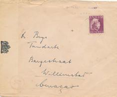 Curacao - 1942 - 6 Cent Konijnenburg Op Censored Cover Van INTERNERINGSKAMP BONAIRE Naar Tandarts In Willemstad - Curaçao, Nederlandse Antillen, Aruba