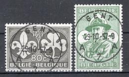 BELGIE: COB 1022/1023 Mooi Gestempeld. - Oblitérés