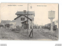 CPA 36 Levroux La Gare Et Le Train Tramway - Sonstige Gemeinden