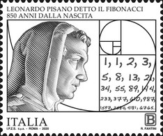 Italia Repubblica 2020 Leonardo Fibonacci Euro 1,10 MNH** Integro - 2011-...: Mint/hinged