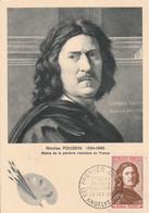 CARTE MAXIMUM 1965 NICOLAS POUSSIN - 1960-69