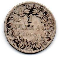Vatican -  1 Lire 1866 - B - Vatican