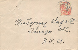 Curacao - 1925 - 12,5 Cent Wilhelmina Op Cover Van KB St MARTIN (NG) Naar Chicago / USA - Curaçao, Nederlandse Antillen, Aruba