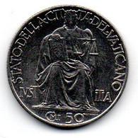 Vatican - 50 Centesimi 1942 -  TTB - Vatican