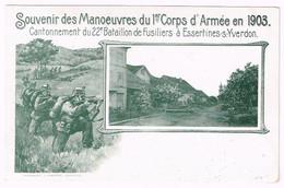 ESSERTINES-SUR-YVERDON VD 1903 Manoeuvres Du 1er Corps - VD Vaud