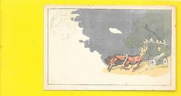 Rare Tampon à Sec Légion Etrangère Décoration Du Drapeau 1906 - Régiments