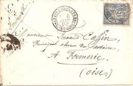 Grisy Les Plâtres ( Seine Et Oise) Cachet Type 18m Sur Sage - 1877-1920: Periodo Semi Moderno