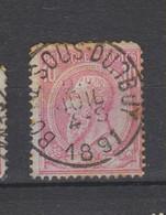 COB 46 Centraal Gestempeld Oblitération Centrale BOMAL-SOUS-DURBUY - 1884-1891 Leopold II.