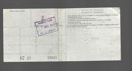Timbre Fiscal  Fiscaux Automobile  Peugeot 404 - Unclassified