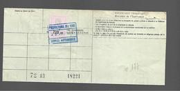 Timbre Fiscal  Fiscaux Automobile  D.S. - Revenue Stamps