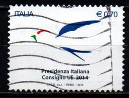 ITALIA - 2014 - PRESIDENZA ITALIANA DEL CONSIGLIO D'EUROPA - USATO - 2011-...: Afgestempeld