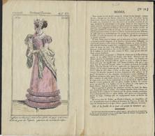 COSTUME PARISIEN * 1821 * GRAVURE * JOURNAL DES DAMES ET DES MODES * 21 X 11..5 CM ( Gravure ) - Prints & Engravings