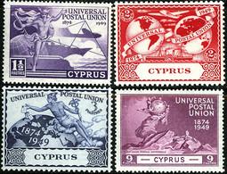CYPRUS 1949 KGVI UPU SG168-71 Mounted Mint - Cyprus (...-1960)