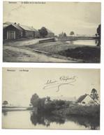 Belgique - NASSOGNE - 2 CP - Les Etangs - Le Dessus De La Rue D'En Haut - Nassogne