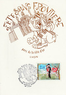FETE SANS FRONTIERE LYON 1985 PEYNET - Commemorative Postmarks