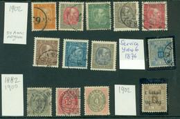 ICELAND - 13 Excellent Stamps 1876-1902 - Usados