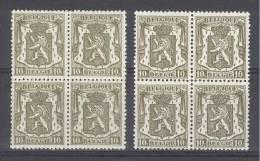 BELGIE - OBP Nr 420 + 420a (blok Van 4) - Klein Staatswapen - MNH** - 1935-1949 Petit Sceau De L'Etat