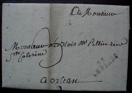 35 LE BLANC ( Indre) 1806 Marque 28 X 10 Sur Lettre Pour Orléans - 1801-1848: Vorläufer XIX