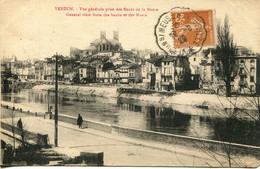 CPA - VERDUN - VUE GENERALE PRISE DES BORDS DE LA MEUSE - Verdun