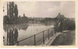 AUXERRE-VUE SUR L'YONNE,EN AMONT DU PONT PAUL BERT-EN 1930- - Auxerre