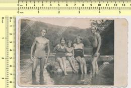 REAL PHOTO Shirtless Trunks Muscular Guy Man Swimsuit Women Girl Beach Mac Homme Femme Fillette Sur La Plage SNAPSHOT - Anonyme Personen