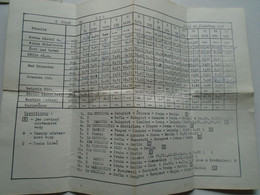 ZA337.10  Timetable  Railway Train  Czechoslovakia PRAHA PRAG  To DDR GDR   1987 - Europe