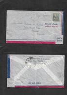 Puerto Rico. 1950 (28 Julio) Rio Piedras - España, Madrid. Sobre Circulado Con Sello USA Prexies 15c Via Aerea. Bonito + - Porto Rico