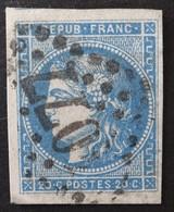 YT 45C (cote 70 €) TB Margé, Voisin, Obl GC 4077 Valenciennes - 1870 Bordeaux Printing