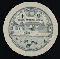 """étiquette Fromage 1er Choix Munster Géromé """"EM""""  Fromager à Martimprey-Gerbépal Vosges 88 - Formaggio"""