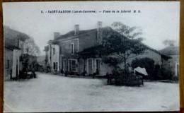 CPA 3. SAINT-SARDOS (Lot Et Garonne) - PLACE DE LA LIBERTE - Other Municipalities