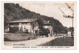 CRECHETS-LASGRAVES . - La Poste . - Route De Mauléon à Loures . - Other Municipalities