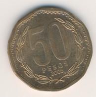 CHILE 2008: 50 Pesos, KM 219 - Chile