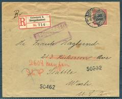 1912 Denmark 35/20 Ore Bi-colour Surcharge Copenhagen Registered Cover - Seattle USA. Bremen - New York Seapost R - Briefe U. Dokumente